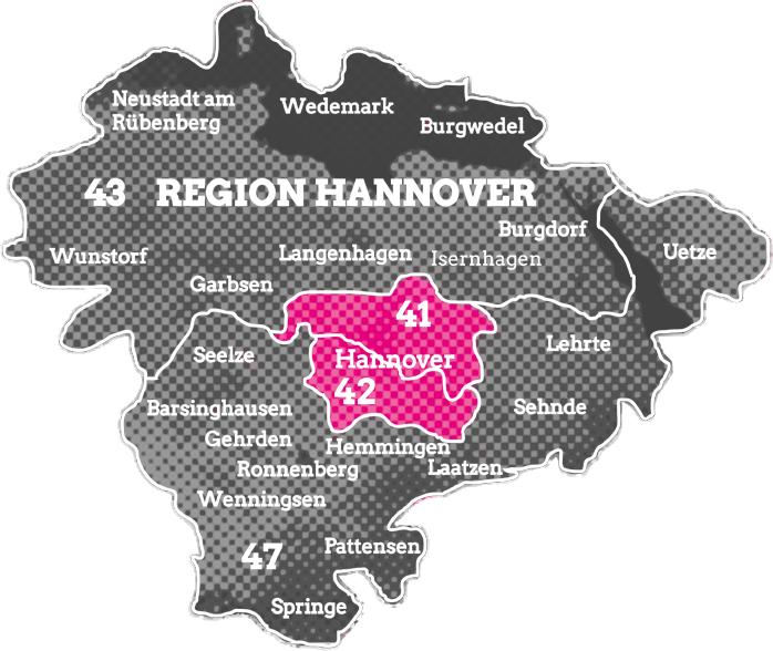 Wahlkreise und Kandidaten in Hannover