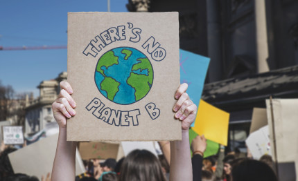 Es gibt keinen Planet B. Protestschild Fridays for Future Demo