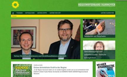 Homepage B90/Die Grünen Regionsverband Hannover
